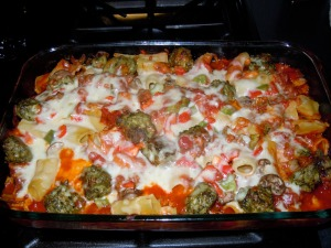 Yummmy!!! Ryan's newest favorite recipe - Baked Rigatoni!