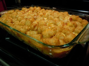 That's right, Tater Tots.   Everything is better with Tater Tots!!