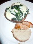 Spinach Stuffed Mushrooms and Maple Balsamic Pork Tenderloin